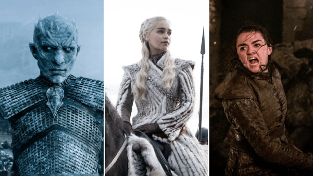 Game of Thrones Night King Daenerys Targaryen Arya Stark