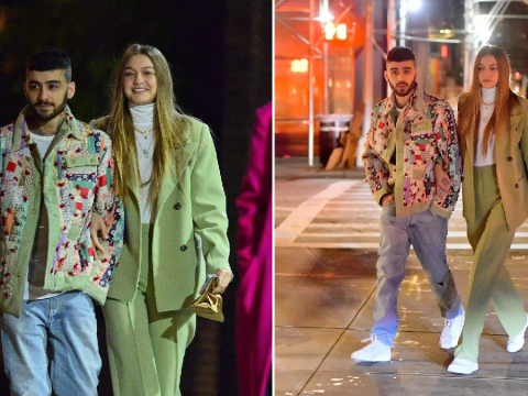 Zayn Malik and Gigi Hadid back together and loved-up as they link arms at his birthday party