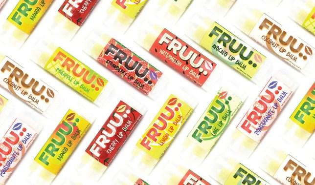FRUU lip balms made from waste fruit