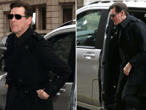 Jim Carrey looks dapper as he arrives in London ahead of Sonic The Hedgehog premiere