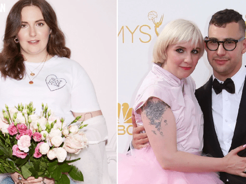 Lena Dunham got engaged to mystery man after Jack Antonoff split with a Timberland shoelace for a ring