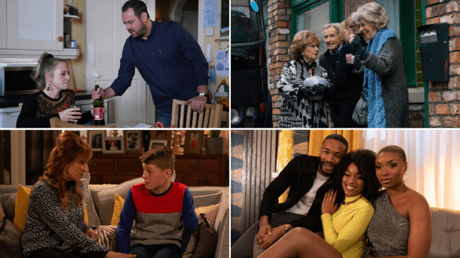 Linda and Mick in EastEnders, Rita, Audrey, Jenny and Ken in Coronation Street, Laurel and Arthur inEmmerdale, Toby, Celeste and Lisa in Hollyoaks