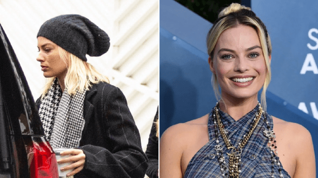 Back to reality for Margot Robbie as she makes low key journey home after the SAG Awards