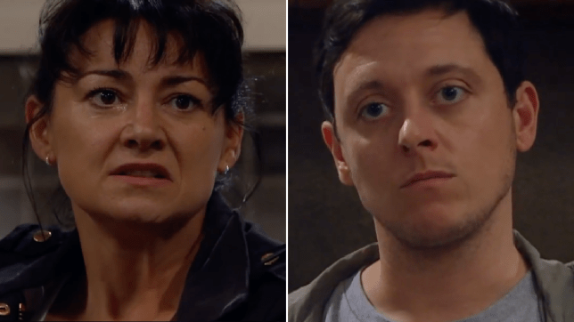 Moira Dingle and Matty Barton in Emmerdale