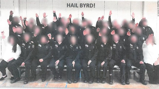 Entire class of trainee prison guards axed for making Nazi salute in class photo