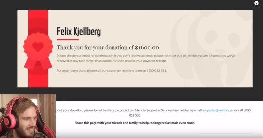 PewDiePie donates $1600 to Wildfire Emergency Appeal after catastrophic fires in Australia