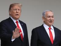 Donald Trump and Israeli Prime Minister Benjamin Netanyahu,
