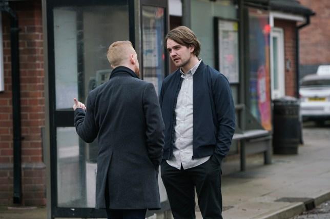 Ali and Gary in Coronation Street