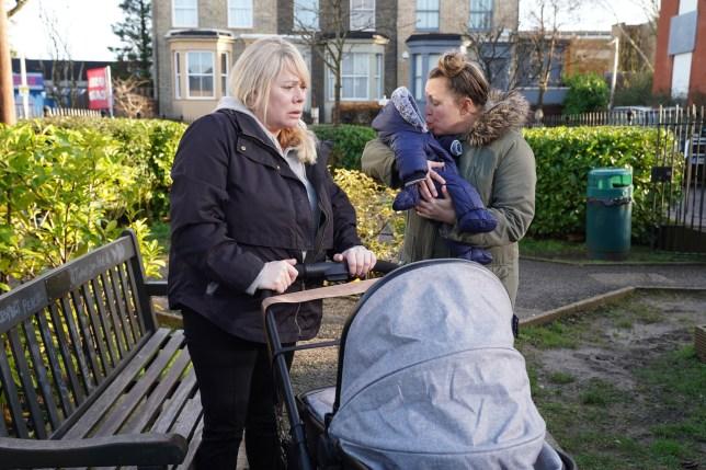 Sharon and Karen in EastEnders