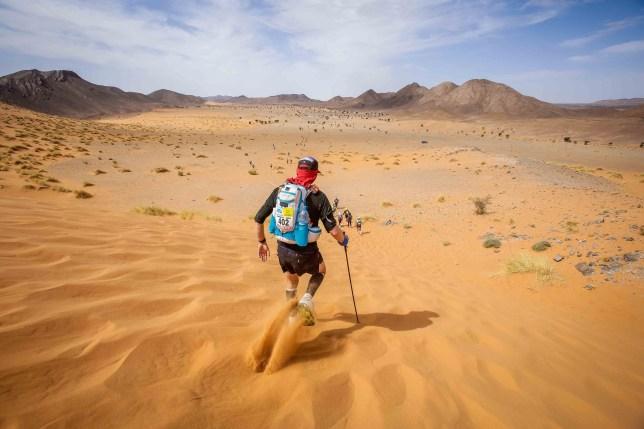 Rob Brown in the Saharan desert
