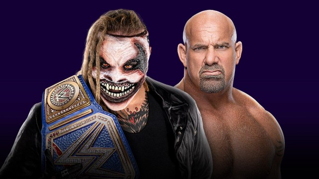 Promo picture for Universal champion Bray Wyatt and WWE legend Goldberg at Super ShowDown