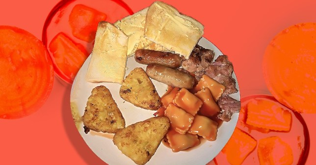 Fry-up with tinned ravioli rinsed online and dubbed 'food poisoning on a plate'