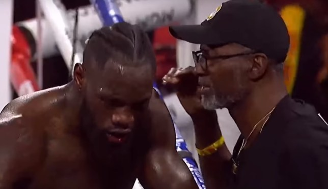 Deontay Wilder was furious with Mark Breland for throwing in the towel to end the rematch with Tyson Fury