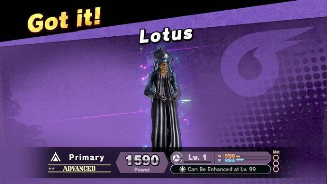 Super Smash Bros. Ultimate Lotus Warframe spirit