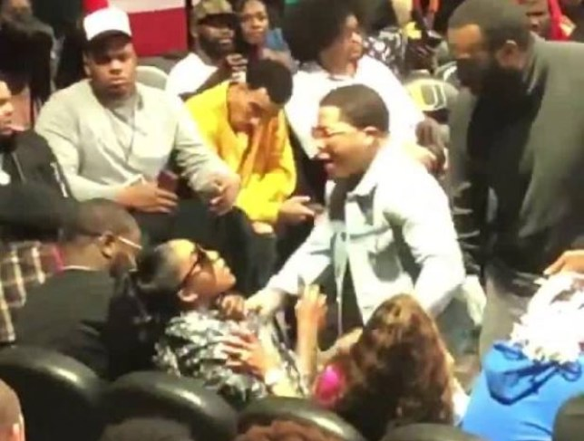 American boxer Gervonta Davis forcefully grabbed Andretta Smothers at a charity basketball event