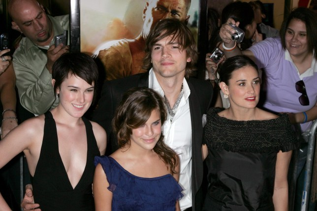 Ashton Kutcher, Demi Moore, and kids