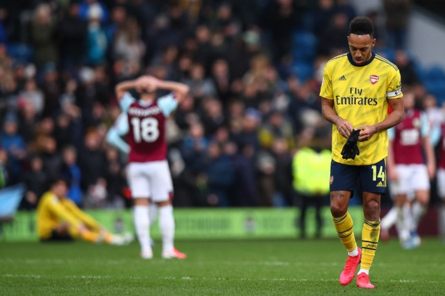 Pierre-Emerick Aubameyang missed three big chances for Arsenal at Burnley