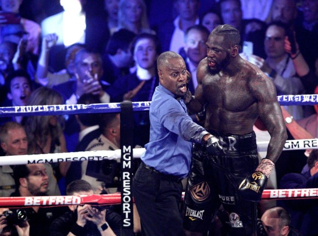 Deontay Wilder and referee Kenny Bayless