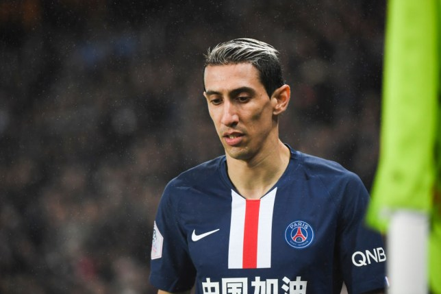 Former Man Utd man Angel Di Maria during PSG's clash with Bordeaux