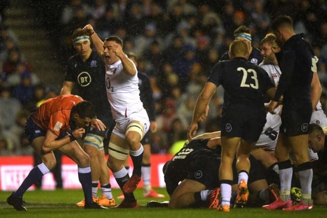 Ellis Genge crossed over late on for England against Scotland