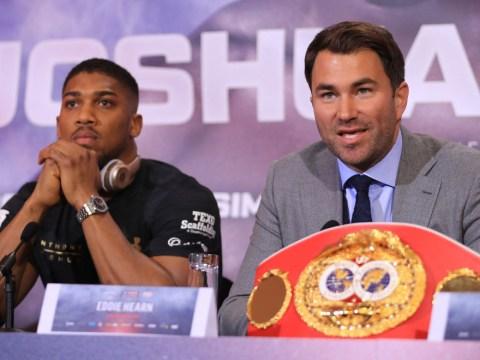 Frank Warren fires warning to Eddie Hearn over Tyson Fury vs Anthony Joshua showdown