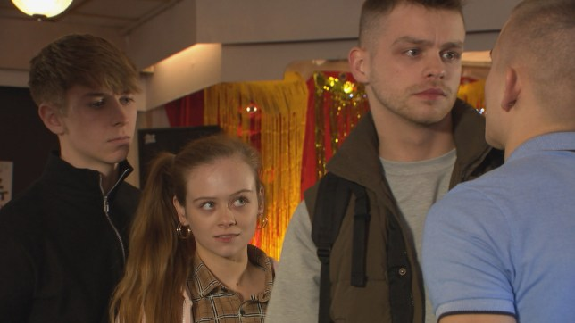 Juliet, Sid and Jordan in Hollyoaks