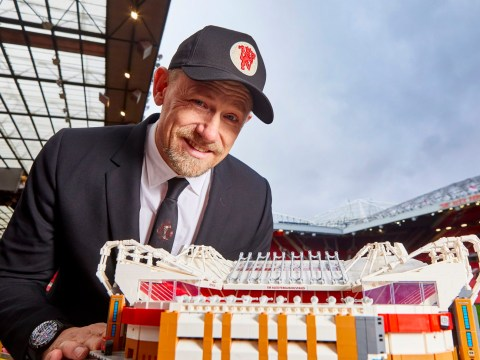 Peter Schmeichel celebrates Old Trafford 110th anniversary via the medium of Lego