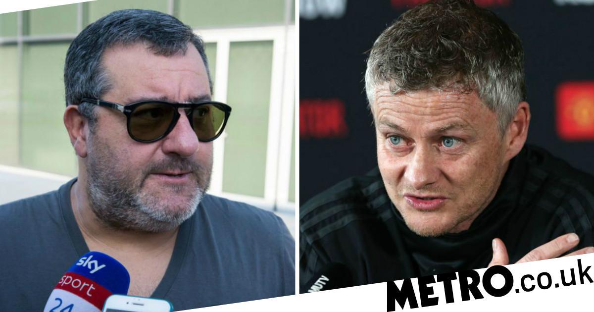 Mino Raiola rips into Man Utd boss Ole Gunnar Solskjaer over Paul Pogba