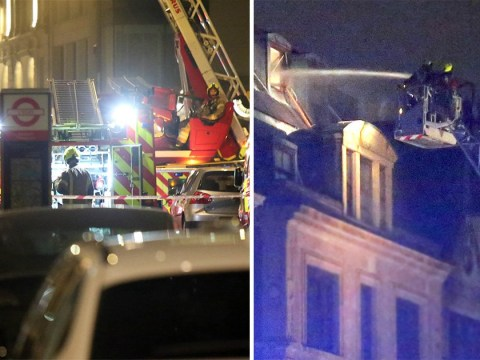 150 firefighters battle blaze for nine hours in central London