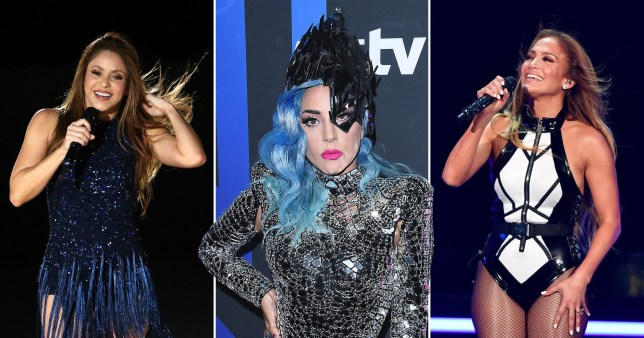 Lady Gaga, Shakira, Jennifer Lopez