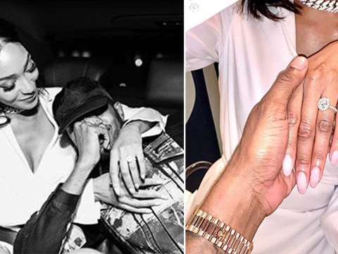 Jourdan Dunn is engaged to rapper Dion Hamilton and she can't get enough of her new ring