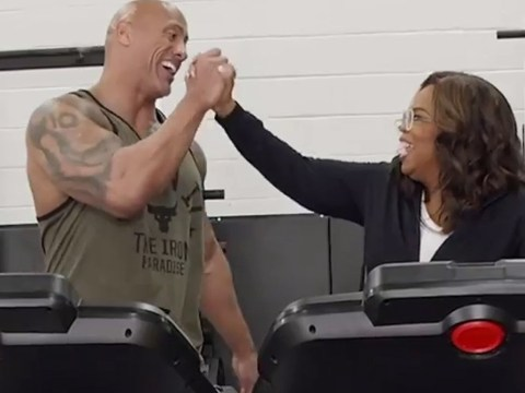 Dwayne 'The Rock' Johnson and Oprah worked out together and it's the friendship we deserve