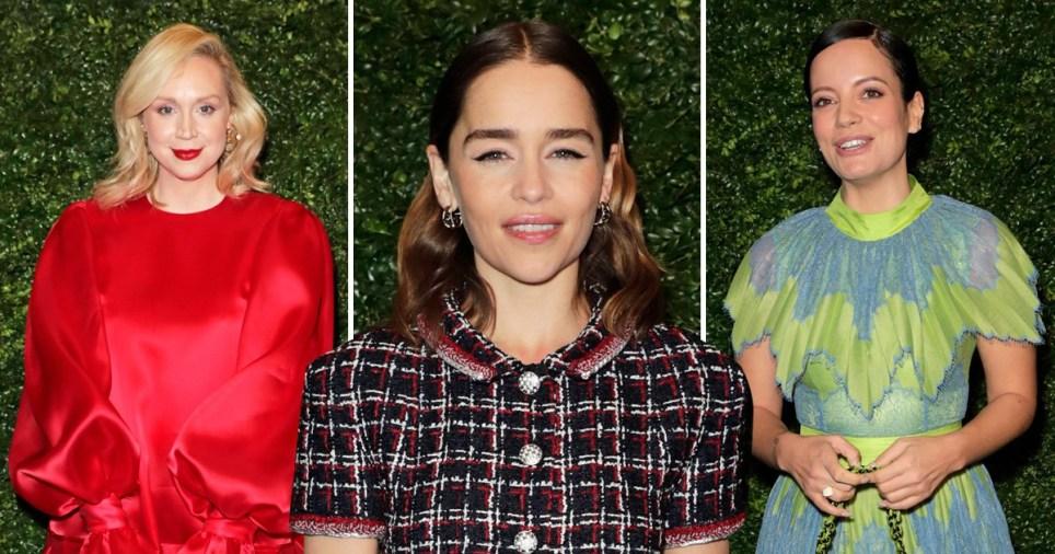 Emilia Clarke, Lily Allen and Gwendoline Christie