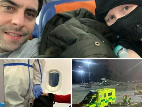 Suspected coronavirus victim escorted off Russia to Dublin flight