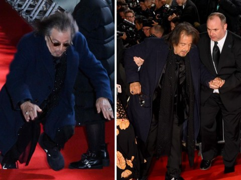 Baftas 2020: Al Pacino falls on red carpet ahead of awards ceremony