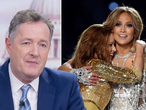 Piers Morgan slams Jennifer Lopez and Shakira's 'semi-naked, pole-writhing, crotch-grabbing' Super Bowl half-time show
