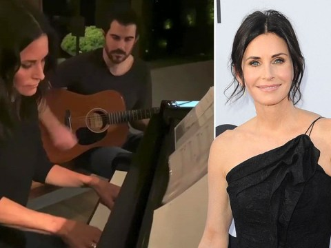 Who knew Courteney Cox was so musical as Friends star aces Alicia Keys tune written by boyfriend Johnny McDaid