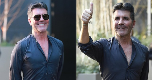 Simon Cowell looks very smug at Britain's Got Talent auditions after he says reading David Walliams' kids' book to son Eric is 'torture'