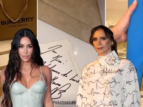 Kim Kardashian receives surprise gifts from Victoria Beckham after landing in London