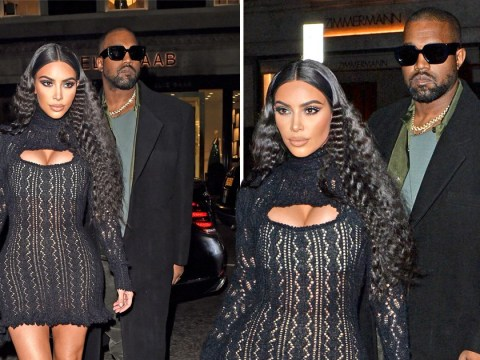 Kim Kardashian and Kanye West take night off from family duties to party it up in London