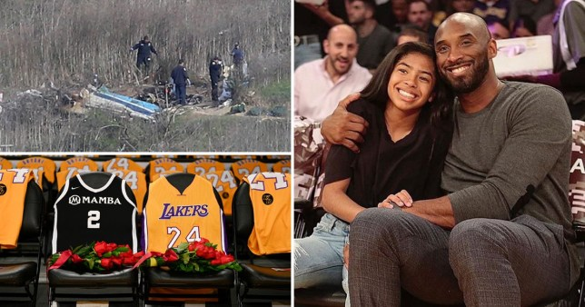 Kobe Bryant and daughter Gianna (right), pictures of crash site and LA Lakers tribute