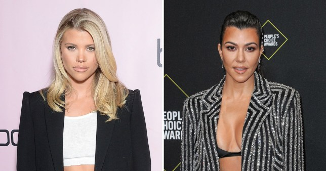 Sofia Richie and Kourtney Kardashian