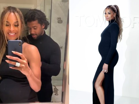 Pregnant Ciara has to be cut out of her dress by Russell Wilson as she reveals pitfalls of glam