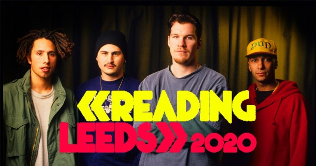 Rage Against The Machine and the Reading And Leeds 2020 logo
