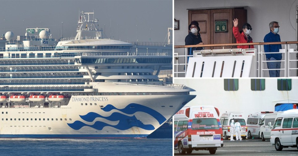 218 people aboard the diamond Princes have tested positive for Coronavirus