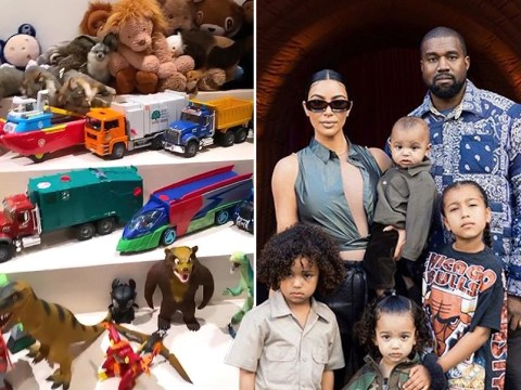 Kim Kardashian tours her children's playroom in $60m mansion and it's every kid's dream