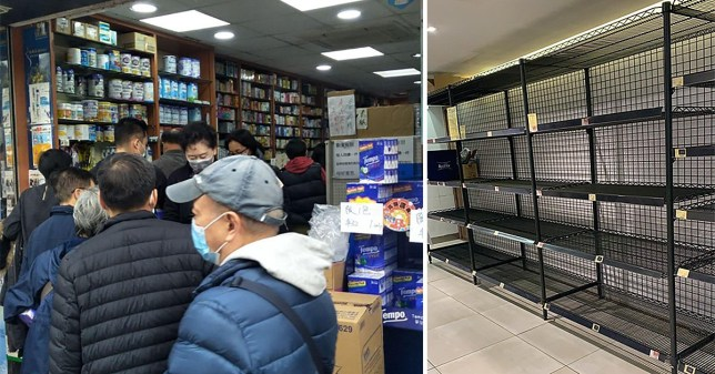 People living in Hong Kong have struggled to buy toilet paper and seen increasing queues at supermarkets and local shops