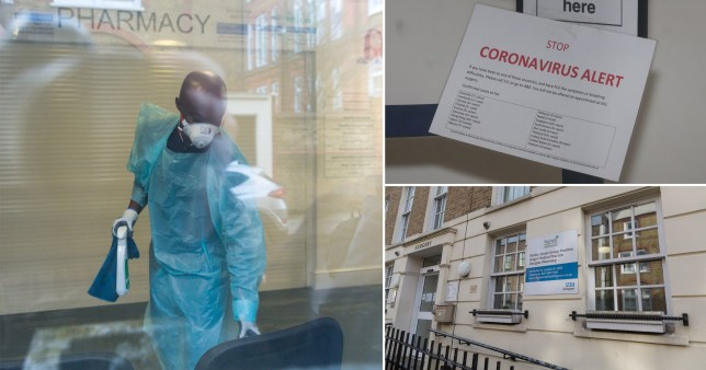 An Islington health centre became the fourth in the UK to close to due coronavirus (Picture: SWNS - PA)