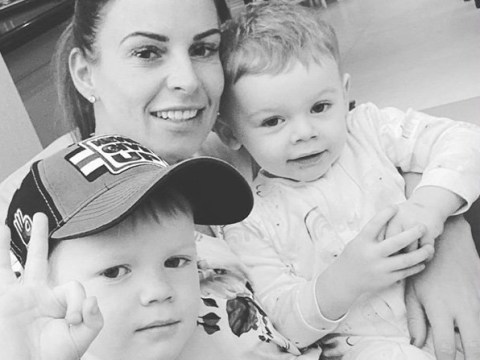 Coleen Rooney isn't fazed by Rebekah Vardy's Loose Women interview as she poses with her sons