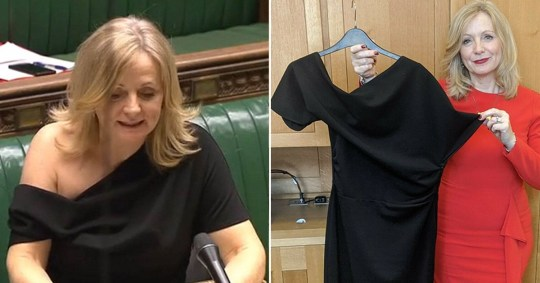 Caption: Tracy Brabin\'s dress auctioned off